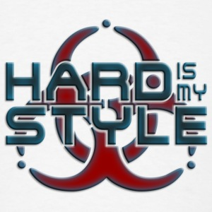 HARD IS MY STYLE - hardstyle pixel | large buttons - Men's T-Shirt