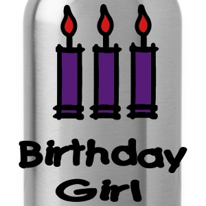 Birthday Girl With 3 Candles Women's T-Shirts - Water Bottle