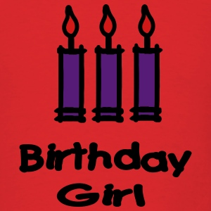 Birthday Girl With 3 Candles Hoodies - Men's T-Shirt