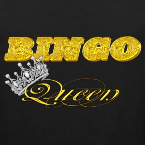 bingo queen crown gold brick styles T-Shirts - Men's Premium Tank
