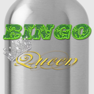 bingo queen crown green styles T-Shirts - Water Bottle