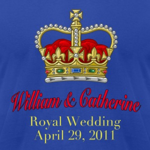 Royal Wedding William & Catherine April 29, 2011 Hoodies - Men's T-Shirt by American Apparel