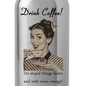 vintage coffee ad  - Water Bottle