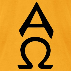 alpha omega Bags  - Men's T-Shirt by American Apparel