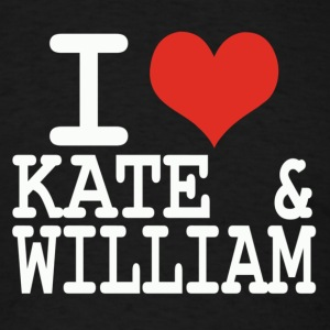 I love Kate and William Hoodies - Men's T-Shirt