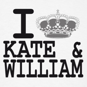 I love Kate and William - crown Hoodies - Men's T-Shirt