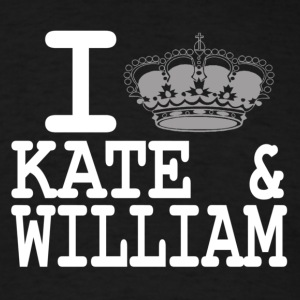 I love Kate and William - crown white Hoodies - Men's T-Shirt