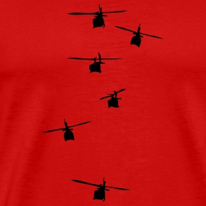 Helicopter Squadron Caps - Men's Premium T-Shirt