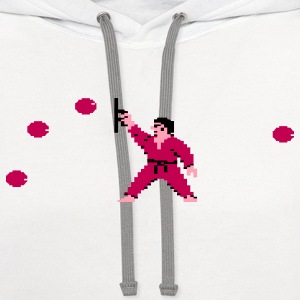 International Karate Men White - Contrast Hoodie