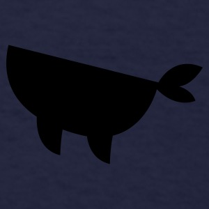 simplified whale breaching swimming up Caps - Men's T-Shirt