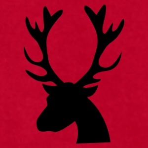 stag head reindeer Caps - Men's T-Shirt by American Apparel