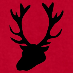 stag head 1 Caps - Men's T-Shirt by American Apparel