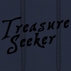 treasure seeker in pirate font Caps - Men's Hoodie