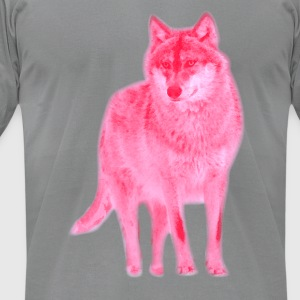 animal t-shirt wolf pack wolves howling wild animal - Men's T-Shirt by American Apparel
