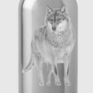 animal t-shirt wolf pack wolves howling wild animal - Water Bottle