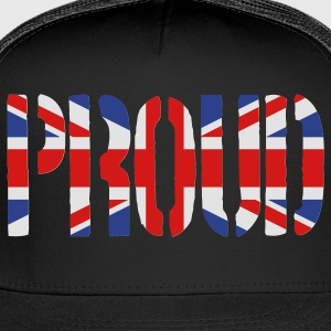 PROUD Britain Flag, British Flag, Union Jack, UK Flag - Trucker Cap