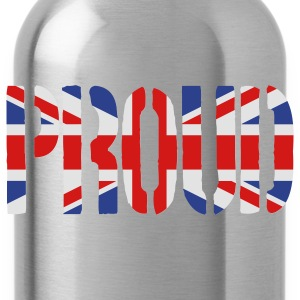 PROUD Britain Flag, British Flag, Union Jack, UK Flag - Water Bottle