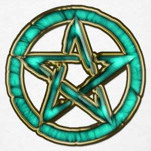 PENTAGRAM - ocean green | large buttons - Men's T-Shirt