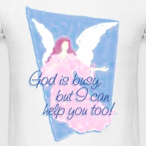 GOD IS BUSY, but I can help you! | women's long sleeve jersey shirt - Men's T-Shirt
