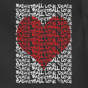 Urban peace love basketball heart Women's T-Shirts - Adjustable Apron