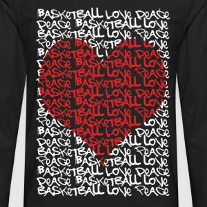Urban peace love basketball heart Women's T-Shirts - Men's Premium Long Sleeve T-Shirt