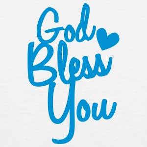 god bless you Buttons - Men's Premium Tank