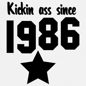kickin ass since 1986 Buttons - Men's Premium T-Shirt