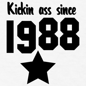 kickin ass since 1988 Buttons - Men's T-Shirt