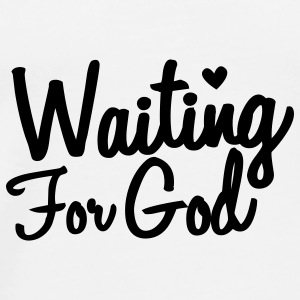 waiting for god Buttons - Men's Premium T-Shirt