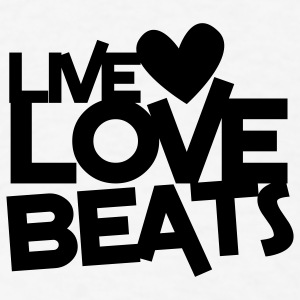 live love beats heart Buttons - Men's T-Shirt