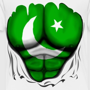 Pakistan Flag Ripped Muscles, six pack, chest t-shirt - Toddler Premium T-Shirt