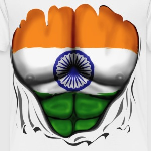 India Flag Ripped Muscles, six pack, chest t-shirt - Toddler Premium T-Shirt