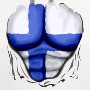 Finland Flag Ripped Muscles, six pack, chest t-shirt - Contrast Hoodie