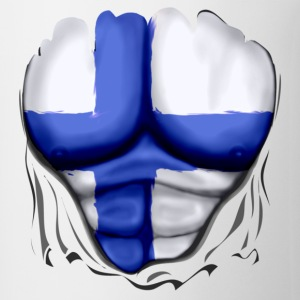 Finland Flag Ripped Muscles, six pack, chest t-shirt - Coffee/Tea Mug
