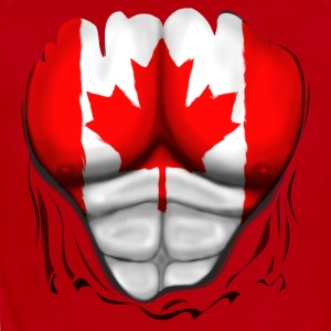 Canada Flag Ripped Muscles, six pack, chest t-shirt - Short Sleeve Baby Bodysuit