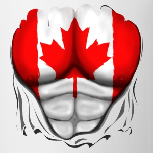 Canada Flag Ripped Muscles, six pack, chest t-shirt - Coffee/Tea Mug