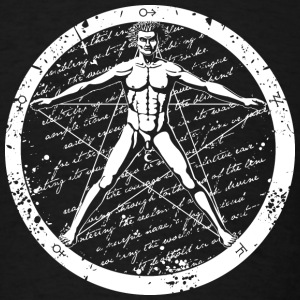 Agrippa Pentagram (round for dark) Hoodies - Men's T-Shirt