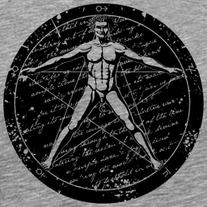 Agrippa Pentagram - Vitruvian Man (round for light Sweatshirts - Men's Premium T-Shirt