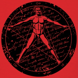 Agrippa Pentagram - Vitruvian Man (round for light Hoodies - Men's T-Shirt