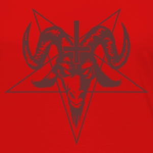 Satanic Goat Head with Pentagram Caps - Women's Premium Long Sleeve T-Shirt