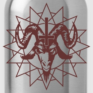 Satanic Goat Head with Chaos Star Tanks - Water Bottle