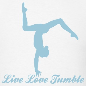 Gymnastics Live Love Tumble with Tumbler  Hoodies - Men's T-Shirt