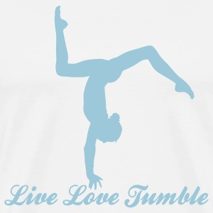 Gymnastics Live Love Tumble with Tumbler  Hoodies - Men's Premium T-Shirt