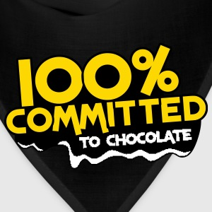 100 percent committed to chocolate Women's T-Shirts - Bandana