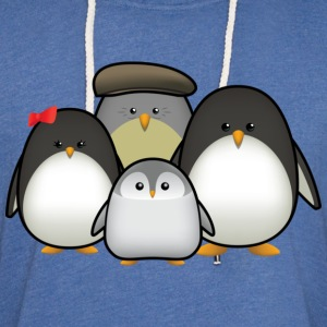 Penguin Family T-Shirts - Unisex Lightweight Terry Hoodie