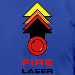 Fire Laser Hoodies - Men's T-Shirt by American Apparel