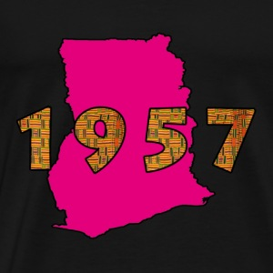 Ghana 1957 pink Long Sleeve Shirts - Men's Premium T-Shirt