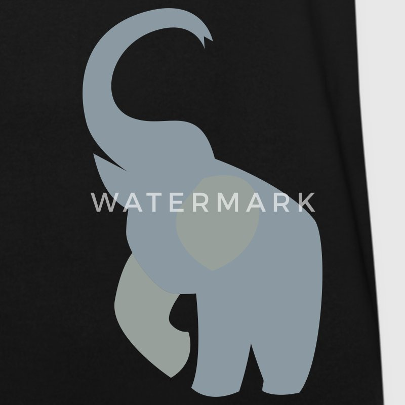 elephant with his trunk up good luck! T-Shirts - Men's V-Neck T-Shirt by Canvas