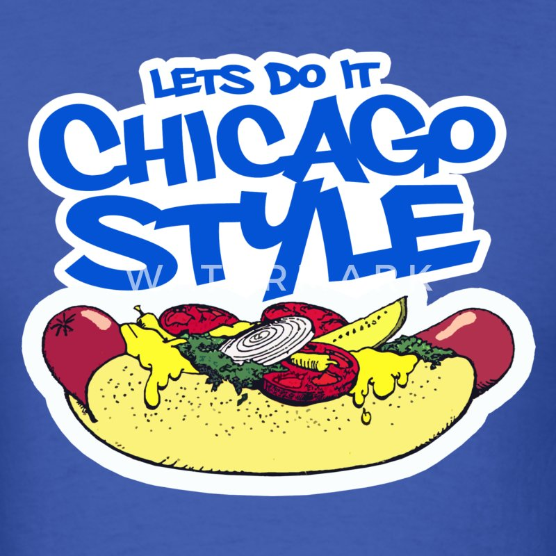 Chicago Style Hotdog - Men's T-Shirt