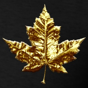 Cool Canada Hoodie Cool Chrome Gold Canada Maple Leaf Hoodie - Men's T-Shirt